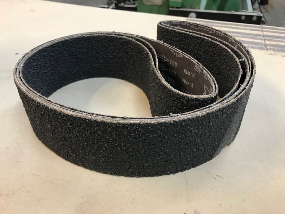 150mm x 3000mm CORK/SILICON GRIT ABRASIVE BELT (Choice of Grits & Pack Qty's)