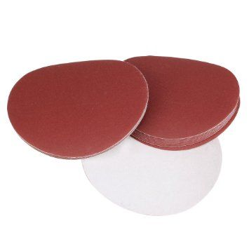 SANDING DISCS - HOOK & LOOP - PLAIN - ALUMINIUM OXIDE  (Pack of 10)
