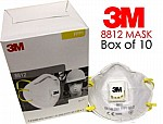 3M 8812 VALVED DUST MASK RESPIRATOR FFP1 (PACK OF 10)