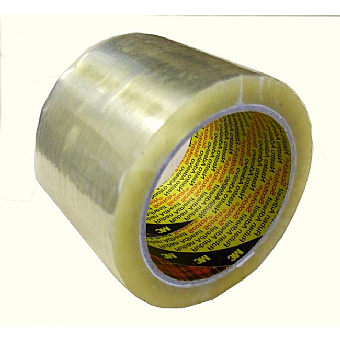 3M Clear Box Sealing Tape 75mm x 66m