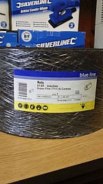 BLACK SILICON CARBIDE SATIN ROLL 150mm x 10m