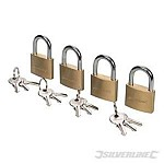 PADLOCK - KEYED ALIKE - SET OF 4