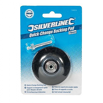75mm Silverline Quick Change Backing Pad