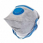 FACE MASK - BOX OF 25 MASKS - FOLD FLAT - VALVED - CARBON LAYER - FFP2
