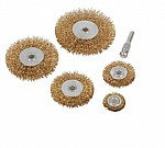 Wire Wheel Set 5 Piece Kit Rust Removal