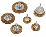 Wire Wheel & Cup Brush Set 6 Piece Kit Rust Removal